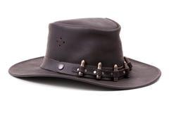 棕色项目符号牛仔帽绒面革 免版税图库摄影