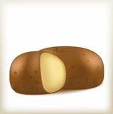 棕色颜色土豆  库存图片