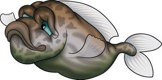 棕色鱼绿色陆运 免版税库存图片