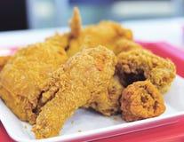 棕色鸡油煎的金黄 免版税图库摄影