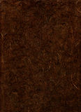 棕色黑暗的纸纹理 免版税库存照片