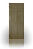 棕色黑暗的门木头 免版税库存图片