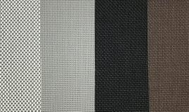 棕色,黑和灰色PVC百叶窗样品  免版税库存图片