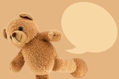 棕色轻的熊玩具演播室照片  免版税库存照片