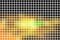 黑棕色黄绿色摘要环绕了马赛克背景  免版税图库摄影