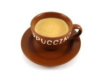 棕色capuchino杯子 免版税库存照片