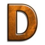 棕色d皮革 免版税库存照片
