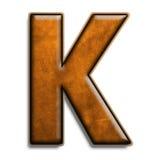 棕色k皮革 免版税库存图片