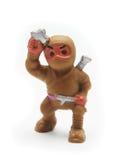 棕色ninja玩具 免版税库存图片