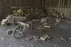 棚子木头 库存图片