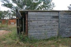棚子的木边 免版税库存照片
