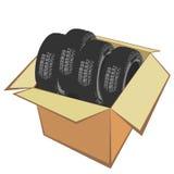 棚车新的轮胎 皇族释放例证