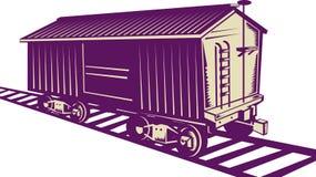 棚车货物培训 皇族释放例证