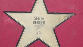森塔伯格,名望步行星大道der星的在柏林 股票录像
