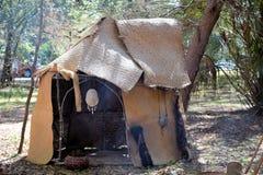 森密诺尔人印地安人圆锥形帐蓬 图库摄影