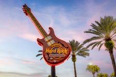 森密诺尔人硬岩旅馆&赌博娱乐场吉他 免版税库存照片