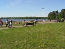 森林公园'DROZDY'在米斯克白俄罗斯 免版税库存照片