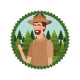 森林别动队员人动画片设计 皇族释放例证