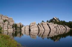 森林南部达可它的湖 库存图片