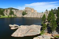 森林南部达可它的湖 库存照片