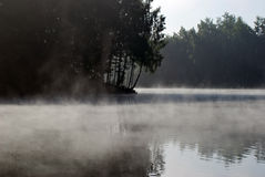 反射和雾 库存照片