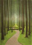 森林图画 免版税库存图片