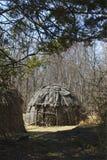 森林圆锥形帐蓬 免版税图库摄影
