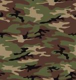 森林地军队伪装无缝的样式 库存图片