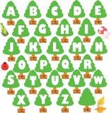 森林字体 免版税库存图片