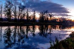 森林干草原区域洪泛区草甸  免版税图库摄影
