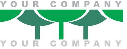 森林徽标 免版税库存图片