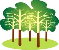 森林徽标 图库摄影