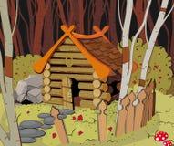 森林房子一点 免版税库存照片