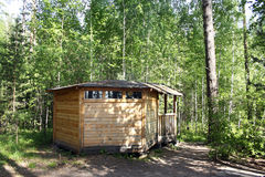 森林房子夏天 库存照片