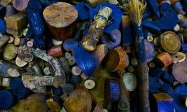 森林木头切口 库存照片