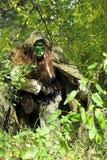 森林残暴的人 库存图片