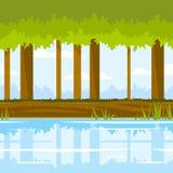 森林比赛背景 向量例证