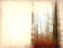 森林水彩 免版税库存图片