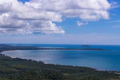 森林海和天空自然场面  图库摄影
