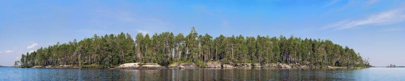 森林海岛岩石 免版税图库摄影