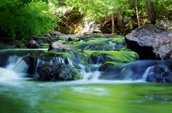 森林瀑布长的曝光 免版税图库摄影