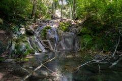 森林瀑布,罗马尼亚 免版税库存照片