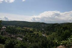 森林的阿恩斯贝格风景。 库存图片