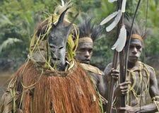 森林精神面具仪式 库存图片