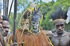 森林精神面具仪式 图库摄影