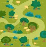 森林迷宫 免版税库存图片
