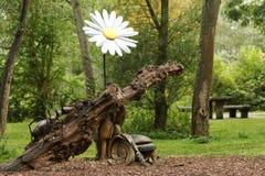 森林雕塑 图库摄影