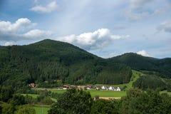 黑森林风景在德国 免版税库存图片