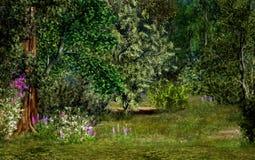 森林魔术场面 免版税图库摄影