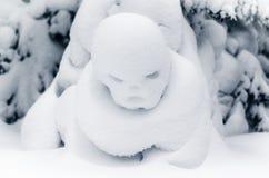 森林,雪形象 免版税库存图片